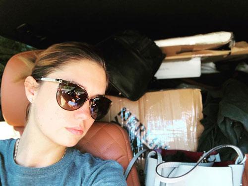 Агата Прилучная в авто