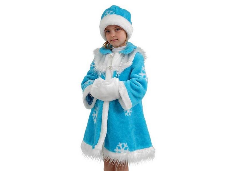 Делаем новогодний костюм Снегурочки для девочки в детсад или школу своими руками!