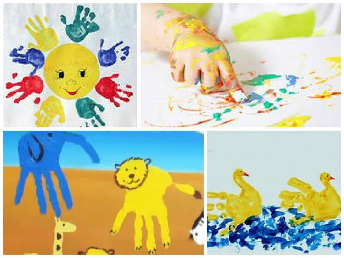 Рисование пальчиками и ладошками с детьми 1-3 лет