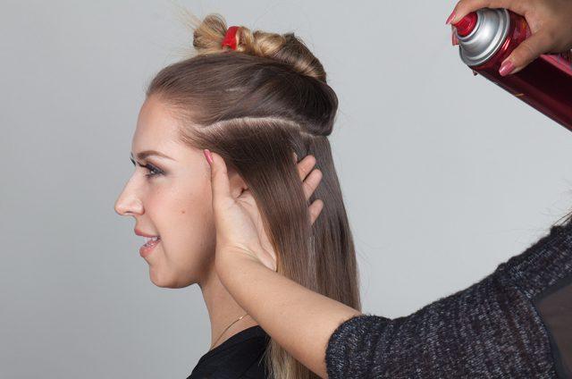 Применение лака для волос