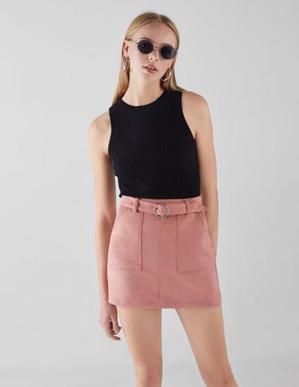 Нежно-розовая юбка