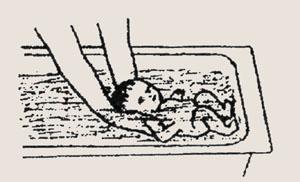 Упражнения по плаванию новорожденных