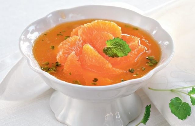 Десертный суп из мандарина