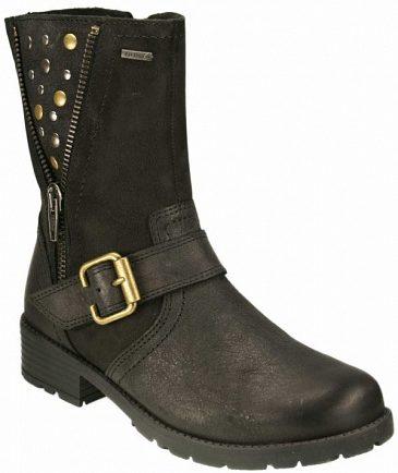 Девичьи ботиночки на зиму с мембраной Gore-Tex из замши и текстиля