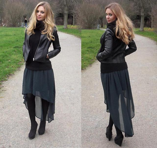 Длинная юбка с асимметричным краем