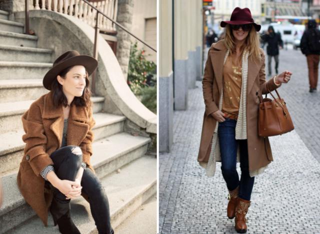С чем сочетается коричневое пальто4