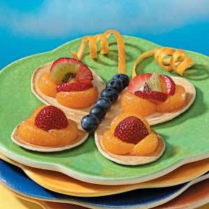 Рецепт фруктовых бабочек