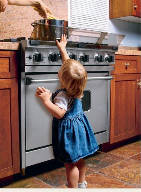 Безопасность детей дома - экран для плиты