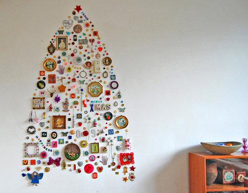Альтернативная елка - панно на стене