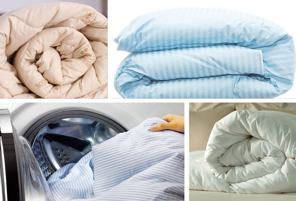 Как стирать разные виды одеял