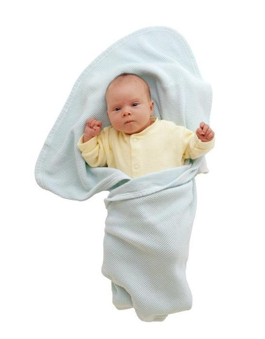 Трикотажные пеленки новорожденному