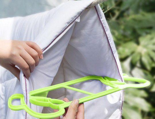 Как сушить одеяло после стирки