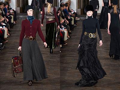 Модные юбки в пол 2013 осень