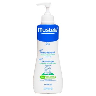 Гель для мытья тела и головы Mustela, для купания младенцев