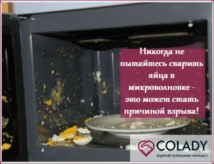 В микроволновке нельзя разогревать и варить яйца - узнайте, почему