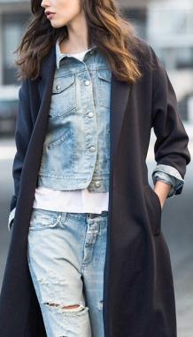 кардиган на джинсовую куртку