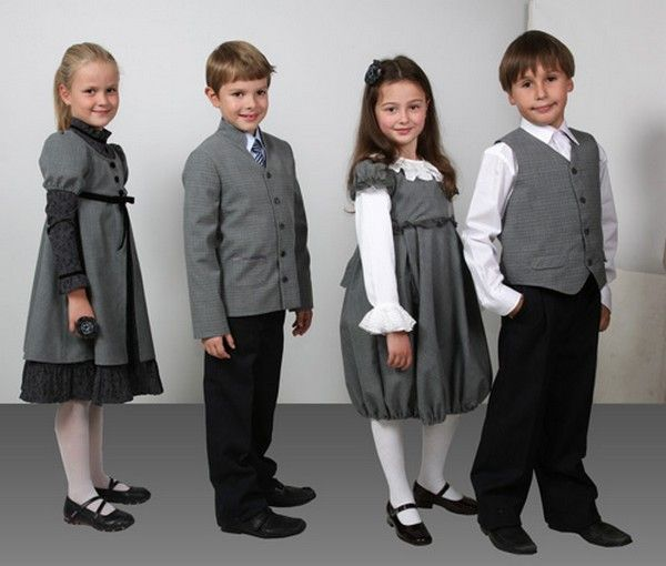 Одежда на 1 сентября - ретро-стиль