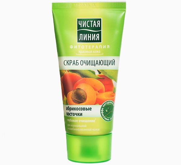 Чистая линия Очищающий с абрикосовыми косточками