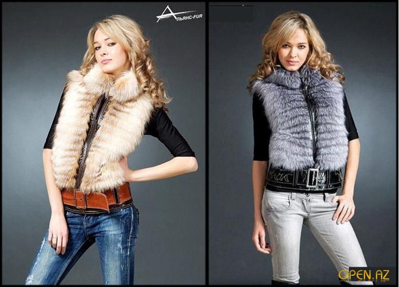 Мода на меховые жилеты 2012