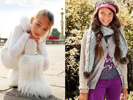 Модная детская одежда для девочек до 10 лет - зима 2012-2013