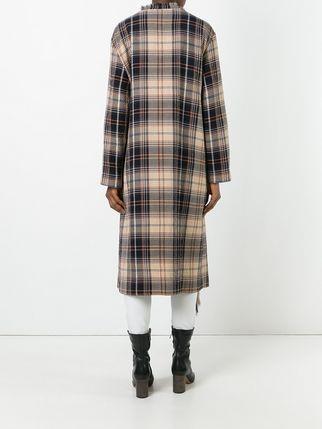 Прямое клетчатое пальто